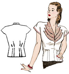 Decades of Style Girl Friday Blouse 4005