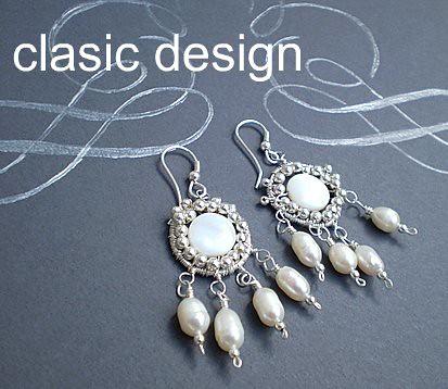 Cercei-argintati-mirese-perle-si--sidef by you.