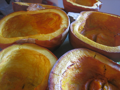 Roasted Pie Pumpkins by Flicker user Melissa Bernais