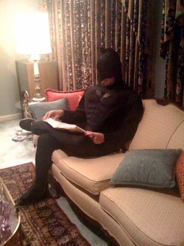 Batman likes to read.