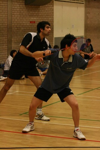 Mens Badminton v Northumbria, 5/11/08, Photo: Justyn Hardcastle