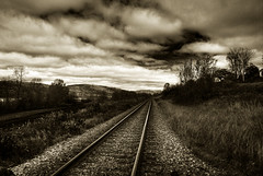 Train tracks HDR edit