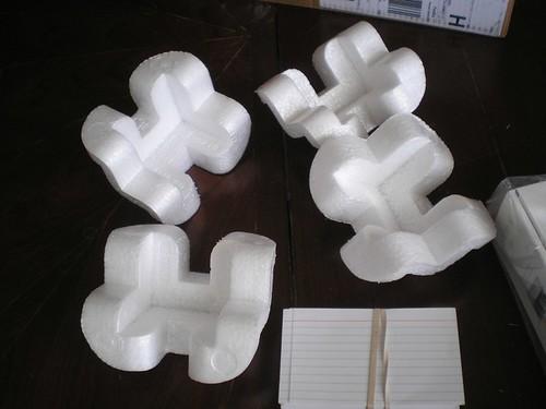 Styrofoam inserts