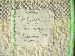 Wonky Log Cabin Label
