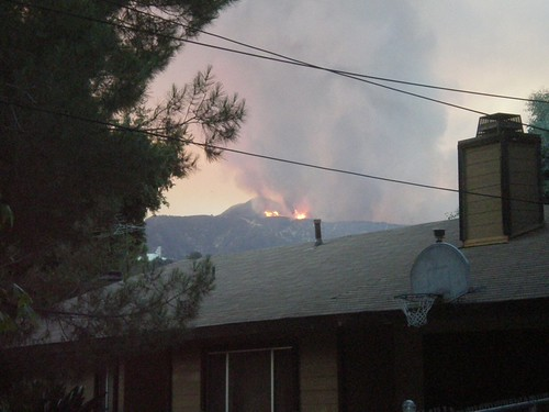 The view from next door - station fire