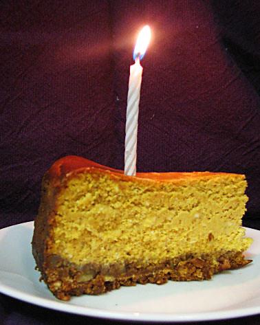 27th Birthday Pumpkin Cheesecake