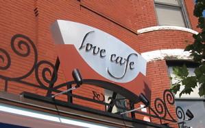 Love Cafe Sign
