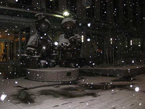 Real snow! Finally!