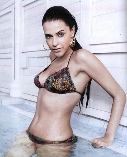 Neha Dhupia dons a bikini this summer