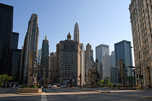Morgends auf der Magnificent Mile Chicago