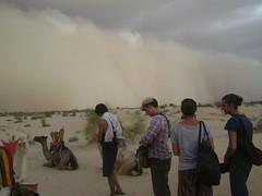 Sandstorm approaches.