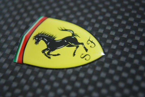 Prancing Horse on Carbon Fiber