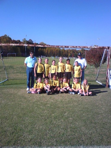 The Buttercups, fall 2008, after their last game of the season, a 2-2 tie.
