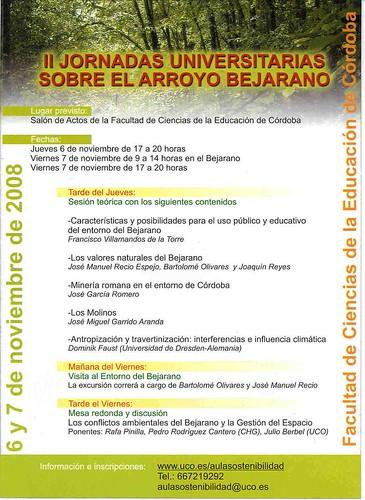 Programa Jornadas Universitarias Arroyo Bejarano