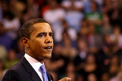 Democratic nominee Barack Obama