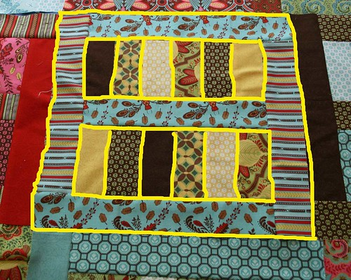 Planned quilting lines