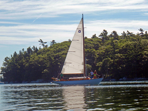 Sailboat on the Johns River, Maine