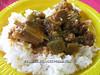 Okra stew with goat
