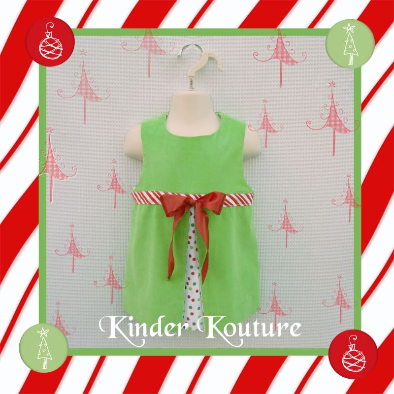 Kinder Kouture Green Christmas Dress