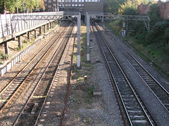 Train track near Ealing Broadway