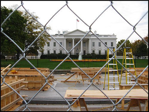 Erecting the Reviewing Stand for Inauguration Day