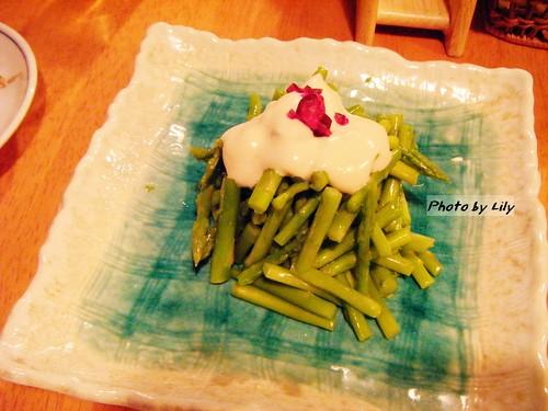 清爽的蘆筍沙拉