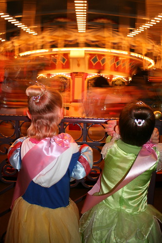 Princesses by their carousel