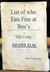 Who eats free at Ben