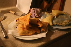 samosas: after and before