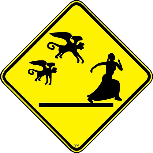 Run Dorothy! Run or the flying monkeys will get you! by wvdirtboy (ilikegooglebetter).