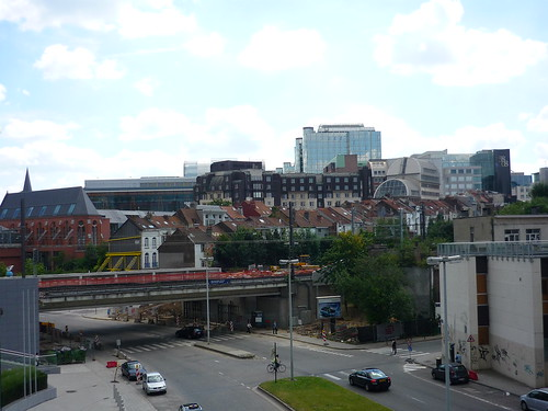 The view from Rue de la Loi to the European Parliament, Brussels
