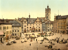 Market place, Darmstadt, Germany, ca. 1895