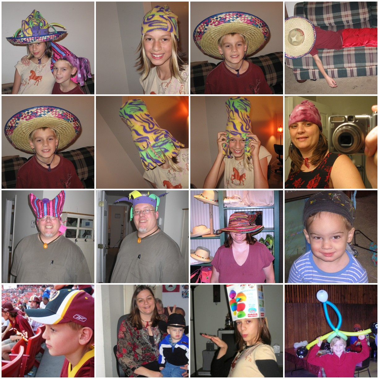 Memoriable Hats over the years