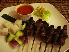 Lamb satay at Puji Puji, London N1