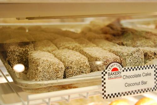 Chocolate cake coconut bar
