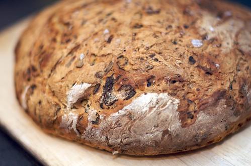 Courgette & mushroom bread