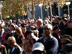 Crowd in the James St Mall