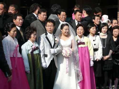 The couple with family