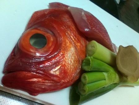 金目鯛の煮付の材料