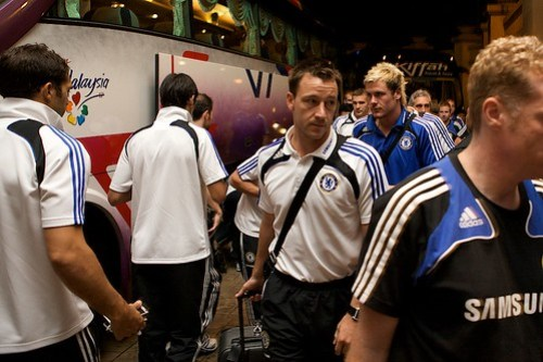 Chelsea Team arrival to Malaysia