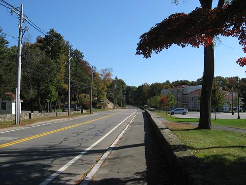 northbound through the Endicott campus
