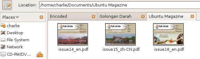 File Manager Nautilus pada Ubuntu 8.10