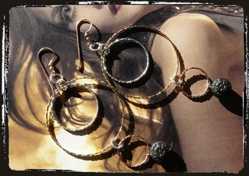Orecchini cerchi vari metalli - Many metals hoop earrings MEHNMMC