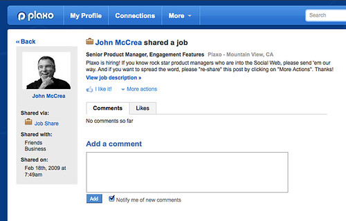 "New ""Social Job Listings"" Feature"