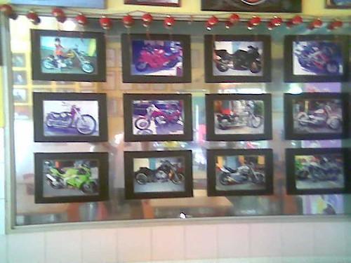 Sibu's Rafie Cafe - big bikes