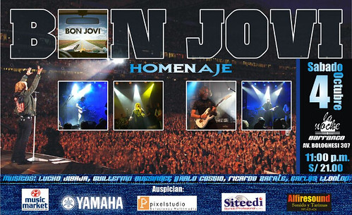 Afiche Homenaje Bon Jovi