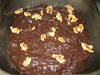 Low fat Dark Chocolate Brownie with Walnuts Dough