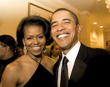Senator and Mrs. Barack Obama