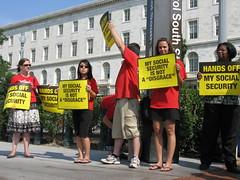 Social Security Protestors