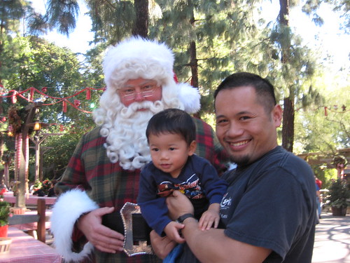Emmett was a bit intimidated.  Santa was a large large man.